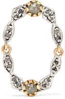 Pascale Monvoisin Adele N°3 9-karat Gold, Silver And Diamond Earring