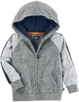 Osh Kosh Toddler Boy Marled Raglan Zip Hoodie