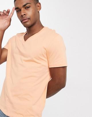 ASOS DESIGN t-shirt with v neck in