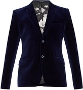 Alexander McQueen Single-breasted velvet blazer