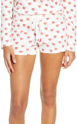 PJ Salvage Heart Print Pajama Shorts