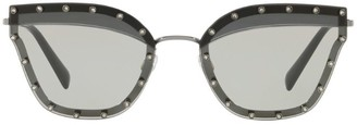 Valentino Embellished Butterfly Sunglasses