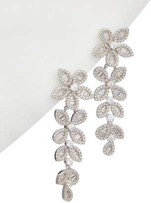 Alanna Bess Limited Collection Silver Cz Statement Earrings
