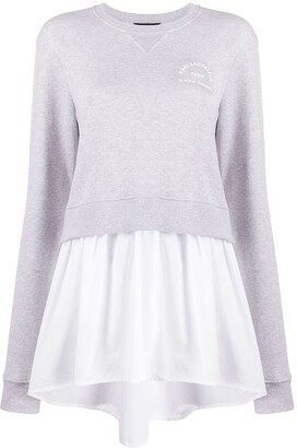 Karl Lagerfeld Paris layered shirt-hem sweatshirt