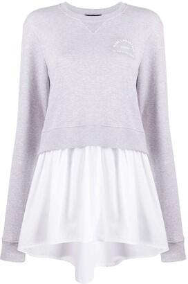 Karl Lagerfeld Paris Layered Shirt-Hem Sweatshirt