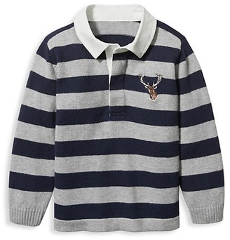 Janie and Jack Baby's, Little Boy's & Boy's Stripe Rugby Shirt