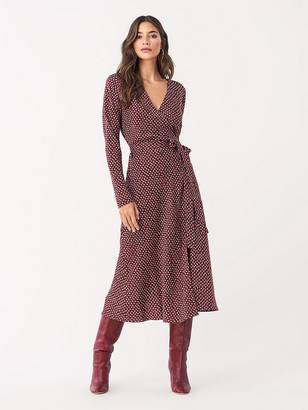 Diane von Furstenberg Tilly Stretch Georgette Midi Wrap Dress