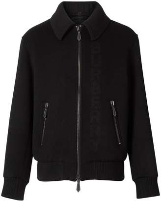 Burberry Detachable Knit Collar Wool Cashmere Bomber Jacket