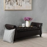 Christopher Knight Home Keiko Tufted Faux Leather Armed Storage Ottoman Bench