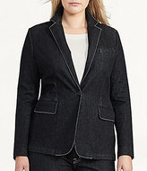 Lauren Ralph Lauren Plus Stretch Denim Blazer