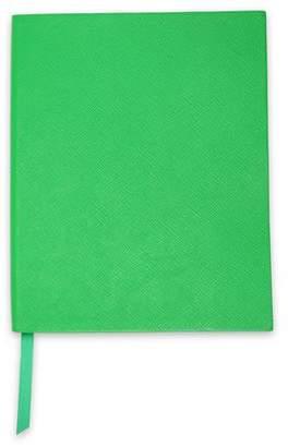 Smythson Textured-leather Notebook