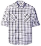 James Campbell Men's Trend Plaid Long Sleeve Sportshirt