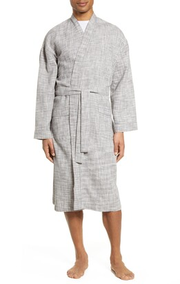 Majestic International Ombre Heathered Waffle Knit Robe