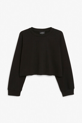 Monki Cropped sweatshirt