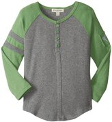 Appaman Baseball Henley (Toddler/Kid) - Light Grey Heather - 3T
