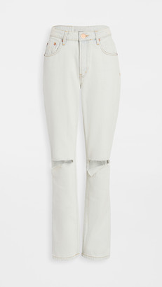 One Teaspoon Awesome Baggies High-Waist Straight Leg Jeans