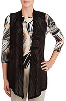 Allison Daley Open Front Long Vest