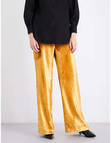 Sharon Wauchob High-rise wide velvet trousers