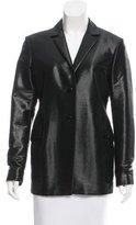 Jil Sander Metallic Wool-Blend Blazer