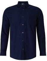 John Lewis Needle Cord Shirt, Navy