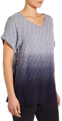 M&Co VIZ-A-VIZ dip dye v-neck tunic