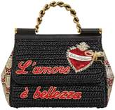 Dolce & Gabbana Medium Sicily Woven Top Handle Bag