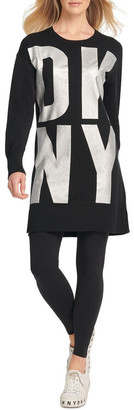 DKNY Exploded Logo Sweater Tunic