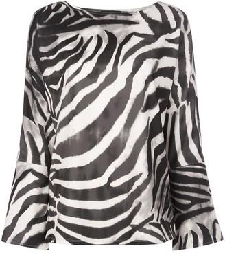 Natori Zebra Print Blouse