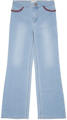 Gucci Cotton Denim Jeans W/ Piping Details