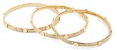 Diane von Furstenberg Snake Chain and Gold Disc Bangle Set