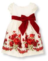 Janie and Jack Rose Floral Silk Duppioni Dress