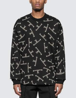 Mastermind World All Over Logo Print Sweatshirt