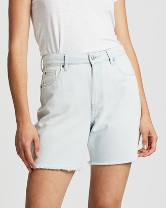 Lee Women's Blue Denim - Straight Shorts - Size 6 at The Iconic