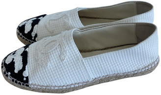 Chanel White Synthetic Espadrilles