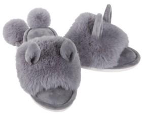 Me Moi MeMoi Bunny Hop Pom Pom Women's Plush Slipper