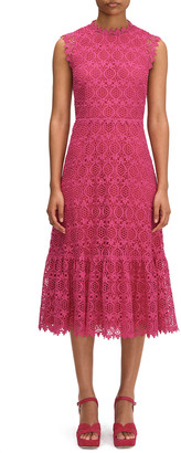 Kate Spade Scallop Lace Midi Dress