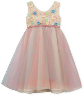 Rare Editions Soutache Tulle Party Dress, Toddler & Little Girls (2T-6X)
