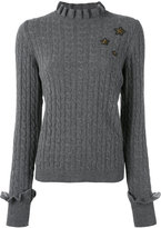 RED Valentino cable knit slim-fit jumper