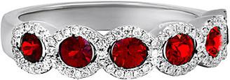 Diana M Fine Jewelry 18K 1.01 Ct. Tw. Diamond & Ruby Ring