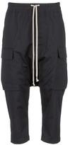 Rick Owens Drop crotch cotton hopsack cargo pants
