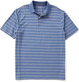 Roundtree & Yorke Casuals Short Sleeve Horizontal-Stripe Polo Shirt