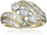 Amazon Collection 10k Gold Diamond Anniversary Ring (1 cttw), Size 6