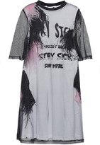 McQ Layered Tulle And Printed Cotton-jersey Mini Dress