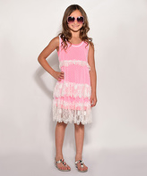 Little Mass Pink Lace Dress - Infant & Toddler