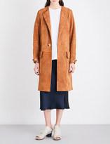 Helmut Lang Pocket-detailed suede trench coat