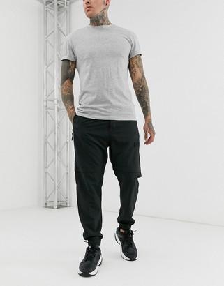 Bershka jogger in black nylon