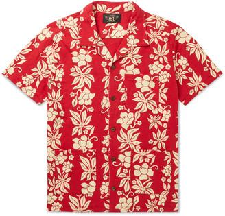Ralph Lauren RRL Camp-Collar Floral-Print Cotton-Jersey Shirt