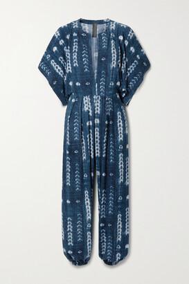 Norma Kamali Tie-dyed Stretch-jersey Jumpsuit - Blue