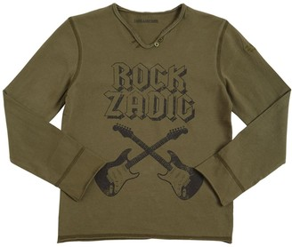 Zadig & Voltaire Guitars Print Cotton Jersey T-shirt