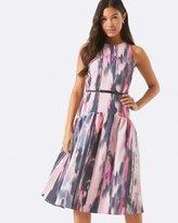 Little Mistress Print Midi Dress